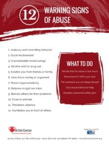 12 Warning Signs of Abuse